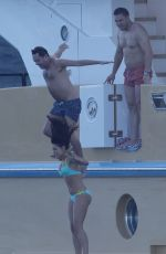 JESSICA LOWNDES in Bikini at a Boat in Cannes 05/18/2015