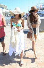 JESSICA LOWNDES in Bikini Top Out and About in Cannes