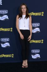 JESSICA STROUP at Pitch Perfect 2 Premiere in Los Angeles