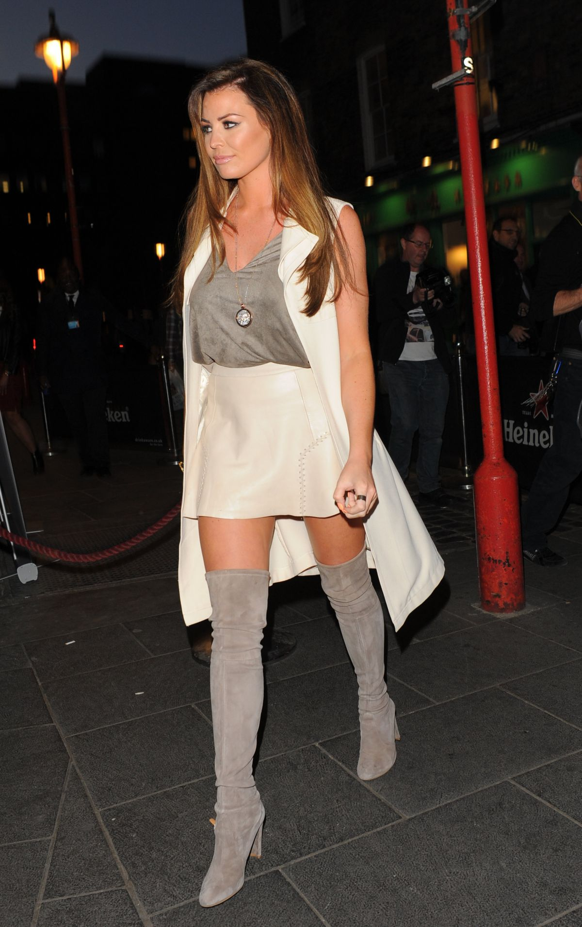 JESSICA WRIGHT at Style for Stroke T-shirt Launch Party in London