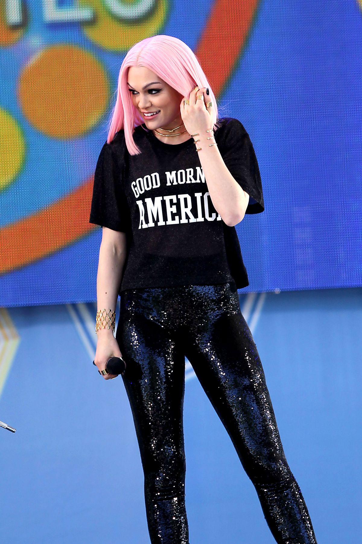 JESSIE J Performs at Good Morning Ameica in New York