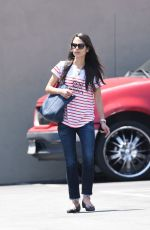JORDANA BREWSTER Arrives at Barneys Gourmet Hamburger in Los Angeles