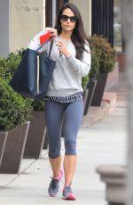 JORDANA BREWSTER in Legging Leeaves a Gym in Brentwood 05/26/2015