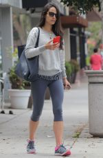JORDANA BREWSTER in Legging Leeaves a Gym in Brentwood 05/26/2015