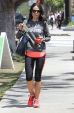JORDANA BREWSTER in Leggings Heading to a Gym in Brentwood 05/12/2015