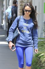JORDANA BREWSTER in Tghts Out and About in West Hollywood 05/28/2015