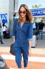 JOURDAN DUNN Arrives at Airport in Nice