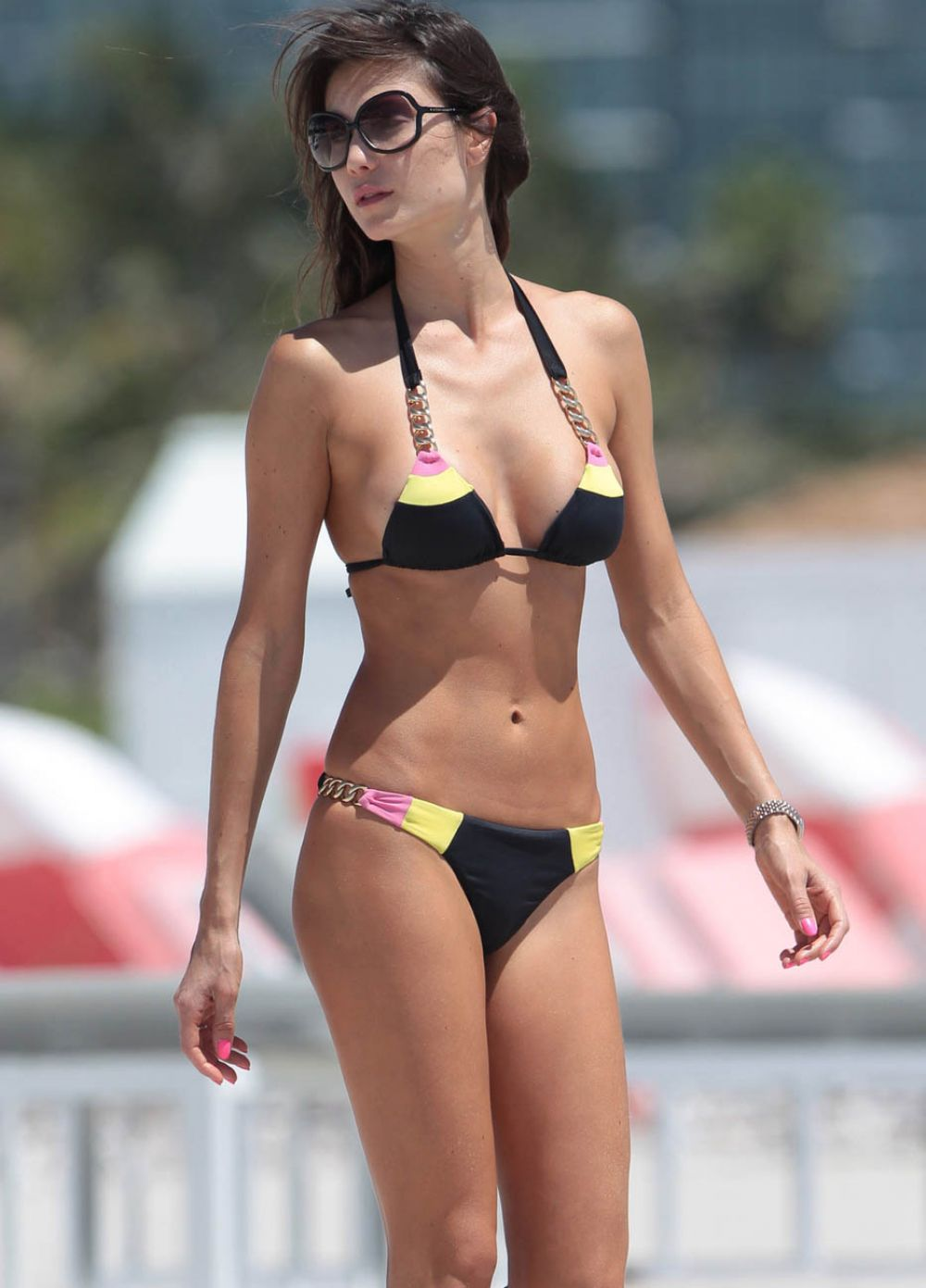 JULIA PEREIRA in Bikini at a Beach in Miami 05/03/2015