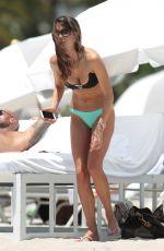 JULIA PEREIRA in Bikini at a Beach in Miami 05/16/2015