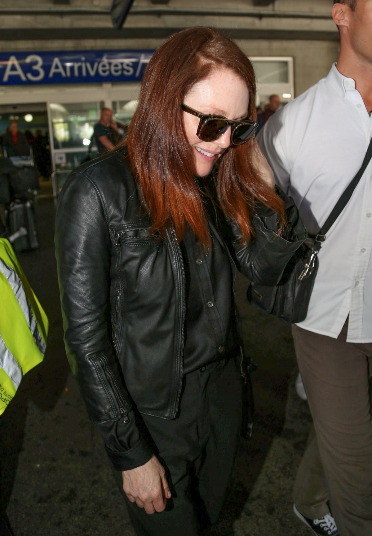 JULIANNE MOORE Arrives at Airport in Nice
