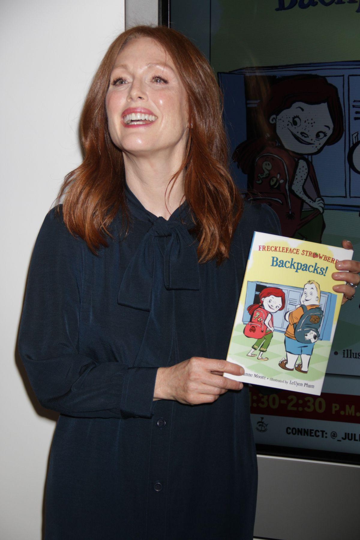 JULIANNE MOORE at Bookexpo 2015 in New York