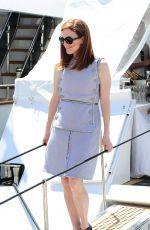 JULIANNE MOORE Leaves a Yacht in Cannes 05/15/2015