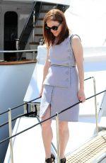 julianne moore leaves a yacht in cannes 05 15 2015