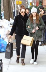 JULIANNE MORRE and Her Daughter Liv Shopping in New York 05/07/2015