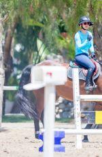 KALEY CUOCO at Horseback Riding in Los Angeles