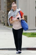 KALEY CUOCO Leaves Yoga Class in Los Angeles 05/27/2015