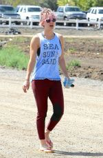 KALEY CUOCO Out and About in Hollywood 05/01/2015