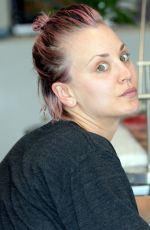 KALEY CUOCO Without Makup at a Nail Salon in Studio City 05/26/2015