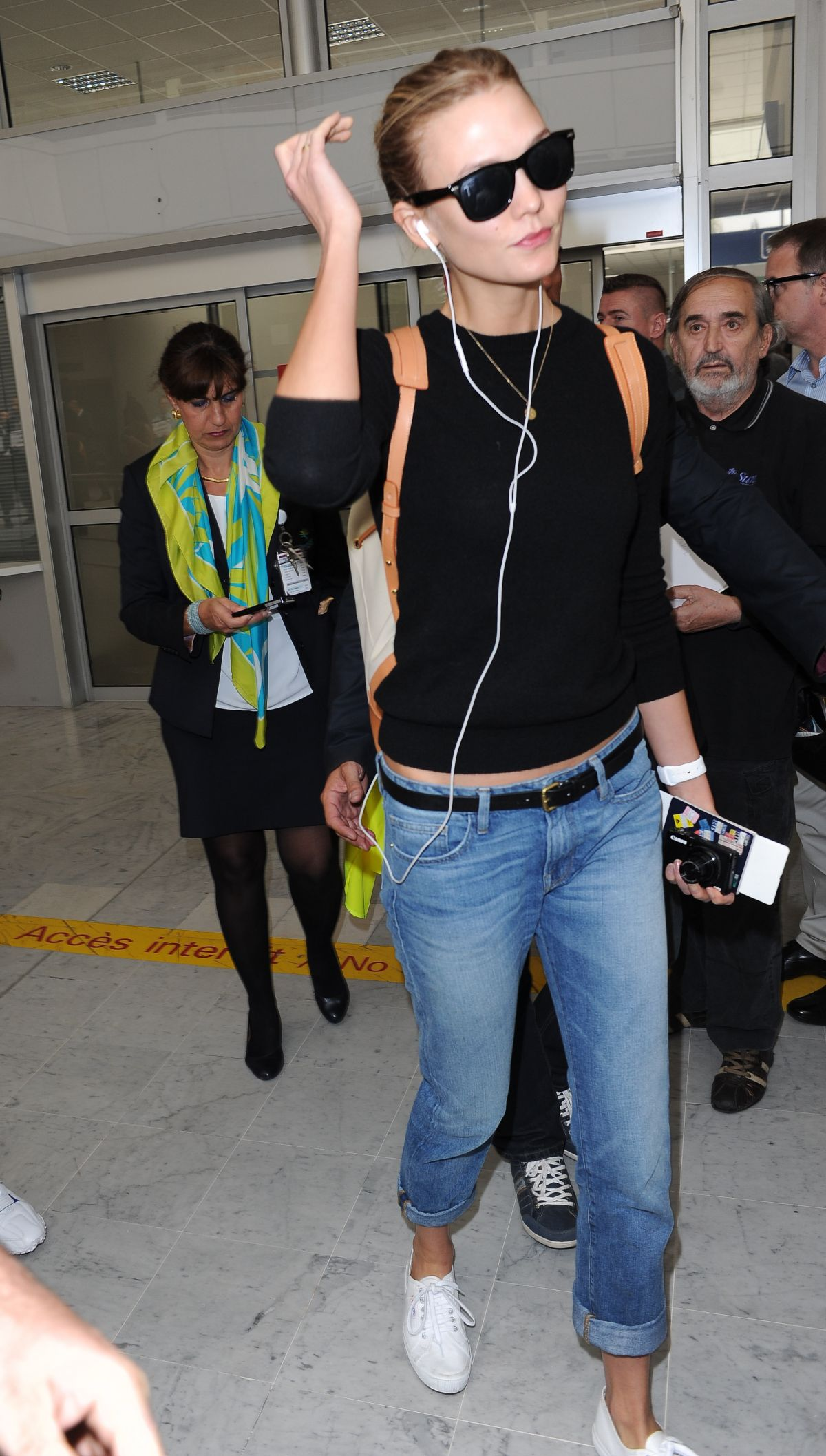 KARLIE KLOSS Arrives at Airport in Nice 05/12/2015