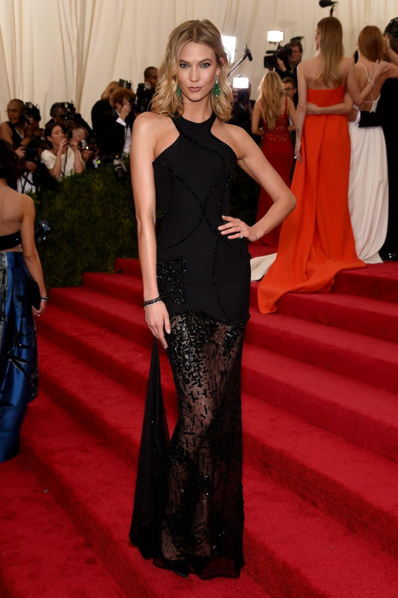 KARLIE KLOSS at MET Gala 2015 in New York