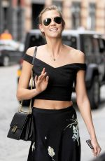 KARLIE KLOSS Out and About in New York 05/28/2015