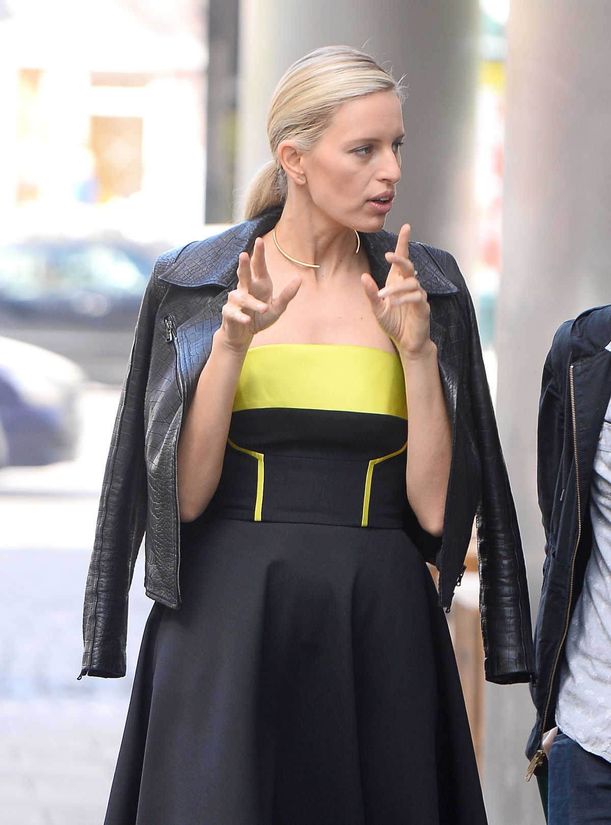KAROLINA KURKOVA Leaves Good Morning TVN Studio in Warsaw