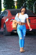 KARREUCHE TRAN Arrives at a Meeting in Los Angeles 04/30/2015