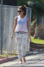 KATE BECKINSALE in Ripped Jeans Out in Los Angeles 05/20/2015