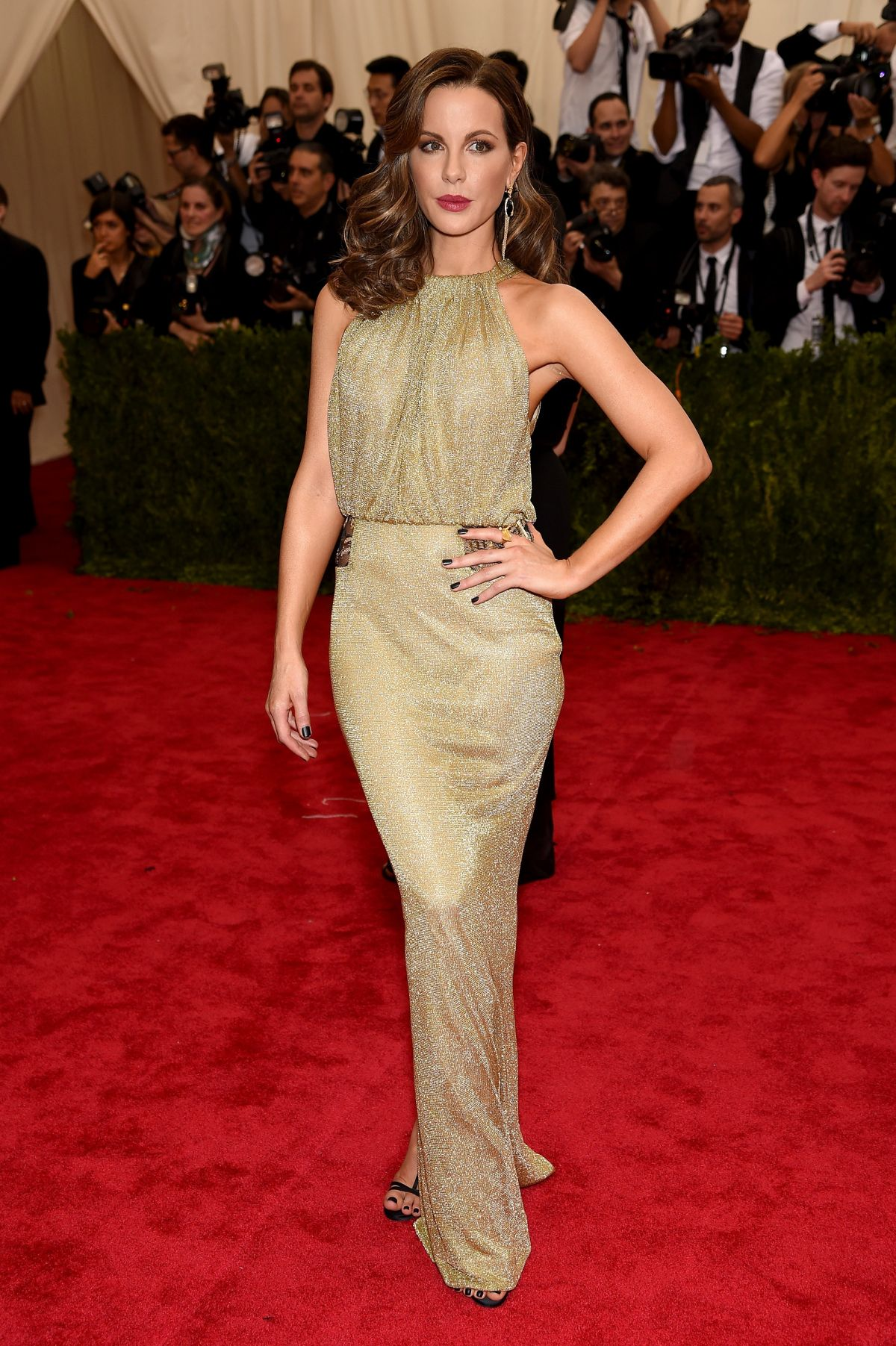 KATE BECKINSALE MET Gala 2015 in New York