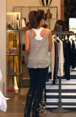KATE BECKINSALE Shopping at Alice + Olivia Boutique in Los Angeles