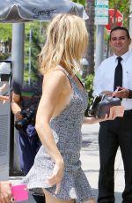 KATE HUDSON Arrives at Spago Bar in Beverly Hills