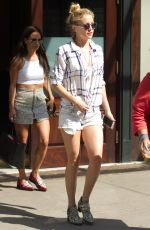 KATE HUDSON in Shorts Leaves Her Hotel in New York 05/04/2015