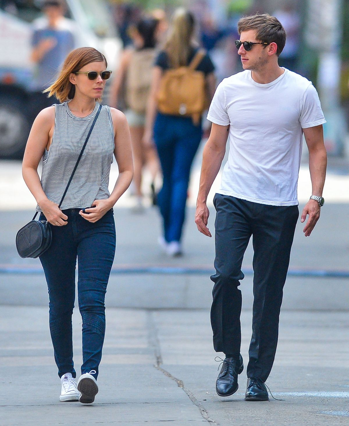 KATE MARA and Jamie Bell Out and About in New York 05/05/2015