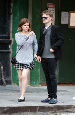 KATE MARA and Jamie Bell Out in New York 05/08/2015
