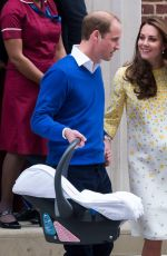 KATE MIDDLETON and Prince William Leaving a Hospital