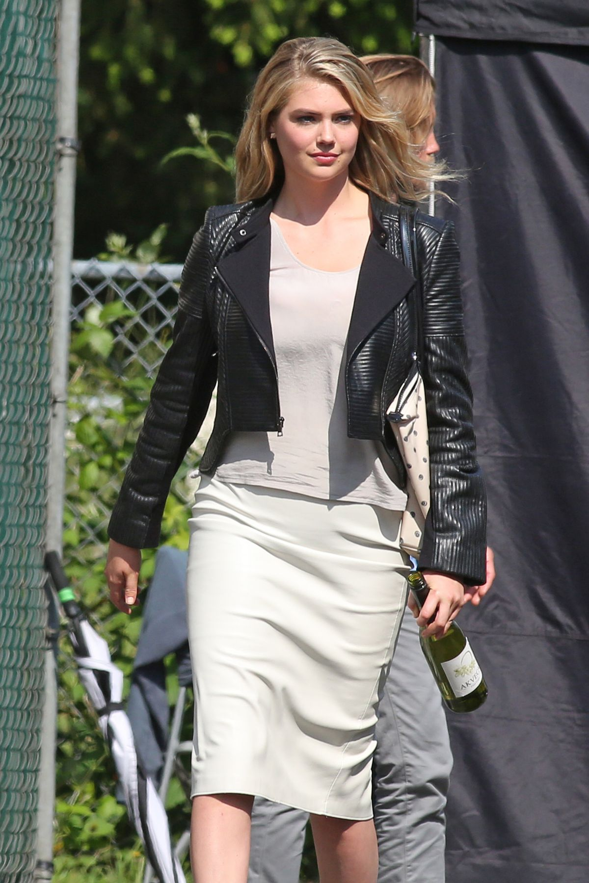 KATE UPTON on the Set of The Layover in Langley City 05/26/2015