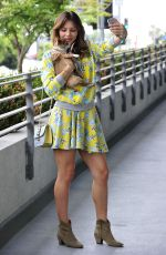 KATHARINE MCPHEE with Her Dog in Los Angeles 05/13/2015