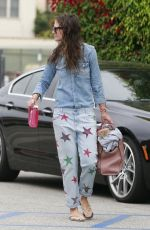 KATIE HOLMES Leaves a Yoga Class in Thousand Oaks 05/27/2015