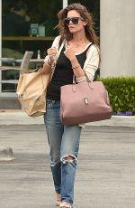 KATIE HOLMES leaves Whole Foods in Santa Monica 05/25/2015