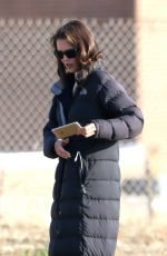 KATIE HOLMES on the Set of Ray Donovan in Paolo Verdes
