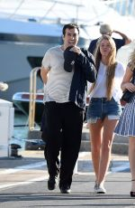 KELLY BROOK. HOFIT GOLAN and TONI GARRN Out and About in Antibes 05/20/2015
