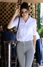 KENDALL JENNER Arrives at Il Pastio in Beverly Hills 05/01/2015