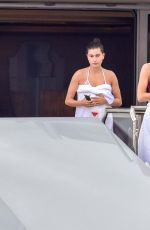 KENDALL JENNER, HAILEY BALDWIN and GIGI and BELLA HADID in Bikinis at a Yacht in Monte Carlo