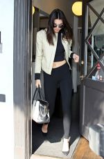 KENDALL JENNER Leaves a Salon in Los Angeles 05/27/2015