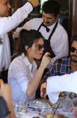 KENDALL JENNER Out for Dinner at Il Pastio in Beverly Hills 05/01/2015