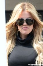 KHLOE KARDASHIAN at Meche Hair Salon in Beverly Hills
