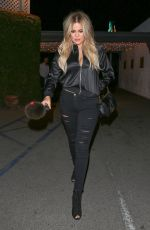 KHLOE KARDASHIAN Out for Dinner in Los Angeles 05/21/2015