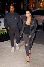KIM KARDASHIAN and Kanye West Out for Dinner in New York 05/02/2015