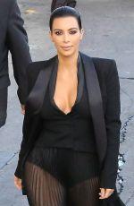 KIM KARDASHIAN Arrives at Jimmy Kimmel Live in Hollywood 04/30/2015