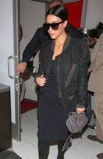 KIM KARDASHIAN Arrives at Los Angeles International Airport 05/01/2015